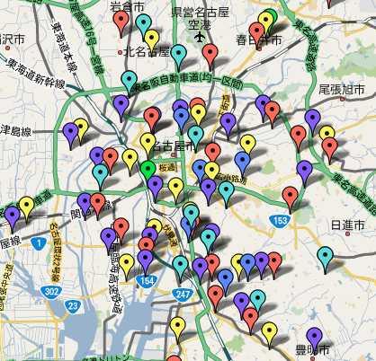 名古屋葬儀会館マップ